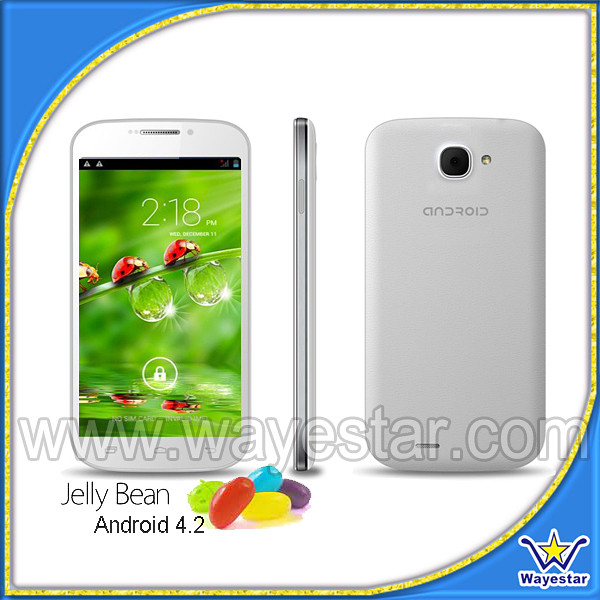 New! 5.0 inch 3G Quad Core Handy Smart Mobile Phone Android 4.2 WIFI GPS BT