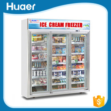 3 door upright commercial Deep freezer from Foshan