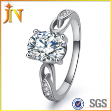 RG0007 New Design Fashion Jewelry Luxury Women Engagement ring sample Silver color Zircon new model Wedding Rings