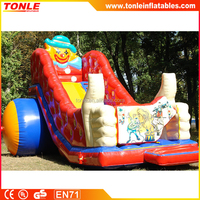 commercial Harlequin inflatable slide of medium size with new characteristic appearance/ inflatable circus slide