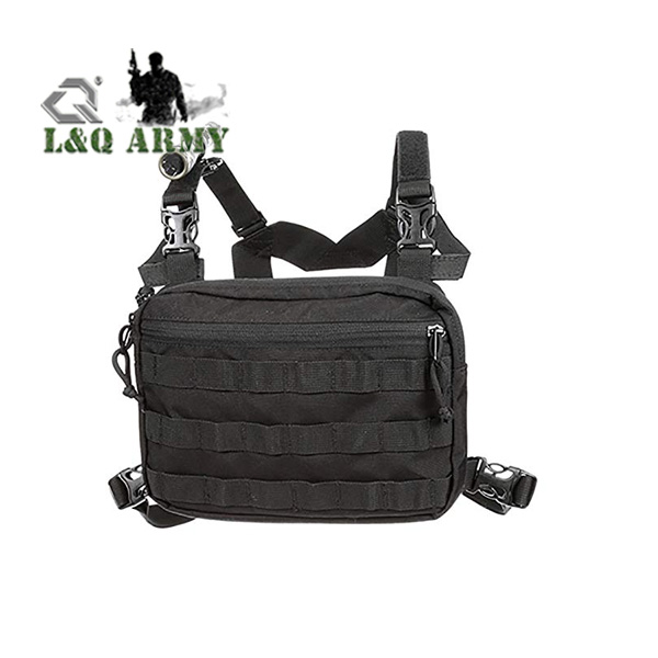 Top quality nylon adjustable shoulder strap Radio Chest Harness bags