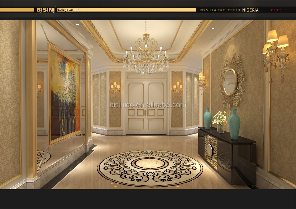 Classical European Style Foyer and Corridor 3D Rendering Interior Design with All Material