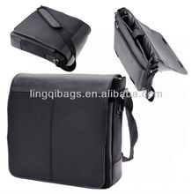 "14.1"" Sophisticated Water-repellent Flapover Vertical Tablet Laptop Messenger Bags for Business Professionals"