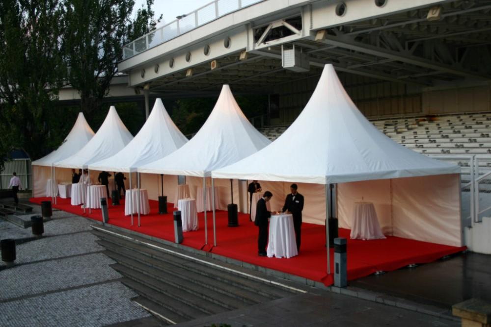 White Pvc Fabric Sidewall Small Gazebo Pagoda Wedding Tent