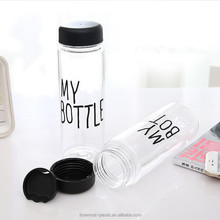 Fashional 500ml clear plastic My Bottle Sport drinking water bottle wholesale