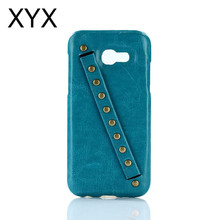 Up-to-date styling with hand belt soft leather phone cover case for iphone 8 hottest 2017