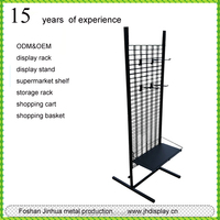 New product powder coating black metal wire shelf for store/shelving/rack