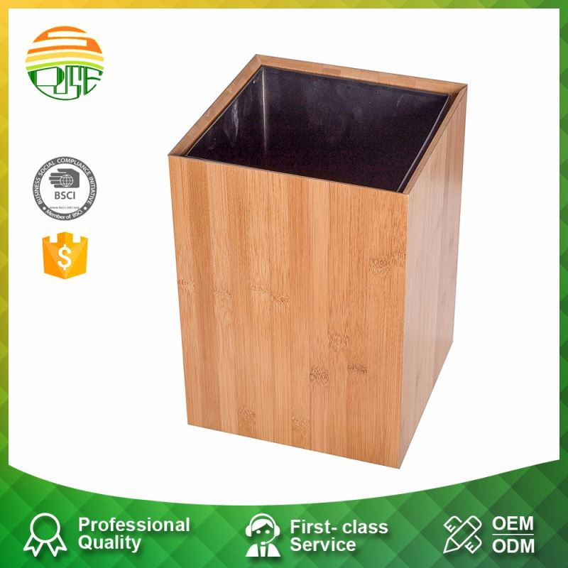 Customized Wooden Fancy Waste Wood Trash Bin
