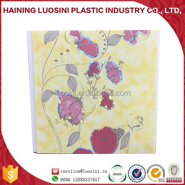 hot stamping pvc decorative celing tile PVC Gypsum Ceiling Tiles