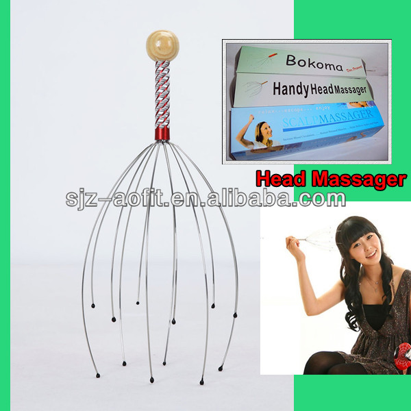 Best stainless steel manual hair growth head massager with Wire Claw Relax Scalp