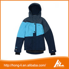 Best cheap fashion 100% polyester winter waterproof mens ski jacket with hood wholesale
