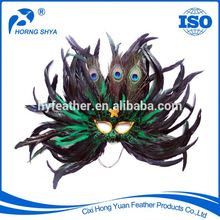 High Quality Manufacturer Directly Luxury Masquerade Party Crafts Fashion Show Mask Peacock Feather Mask