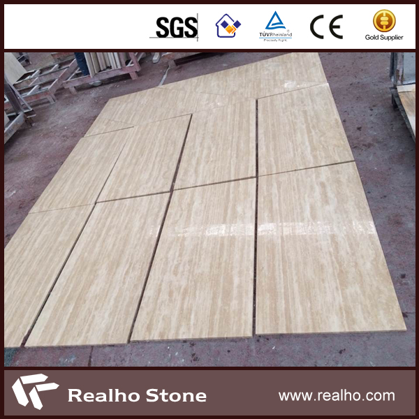 SGS Own Facotry Turkish Beige Travertine Marble Stone For Flooring / Wall Tile