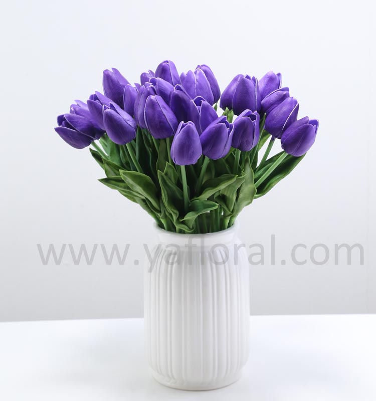 Purple artificial <strong>flower</strong> mini tulip cheap wedding bouquet wholesale artificial <strong>flower</strong>