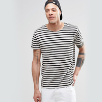 Stripe design men's t-shirt fashion t shirt with summer clothing