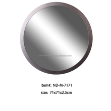 Silver round shaped mirror photo frame