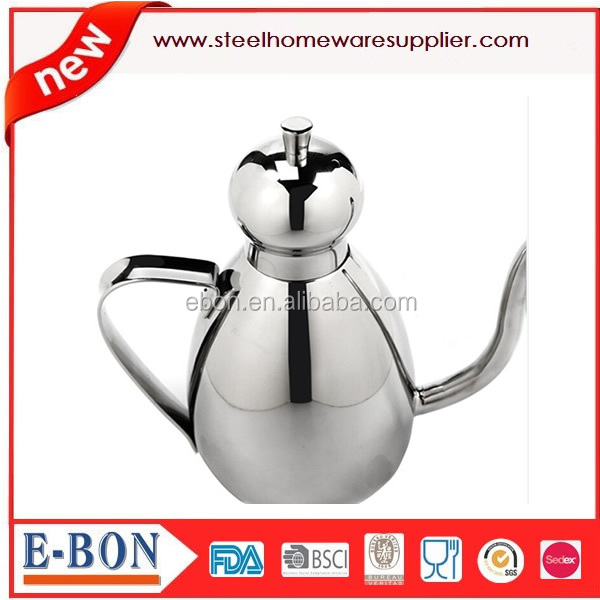 oil can With Drip-free Spout Stainless Steel Olive Oil Can