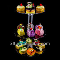 2013 new 3 Tier Clear Acrylic Cake Centerpiece Stand Weddings Baby Shower Party