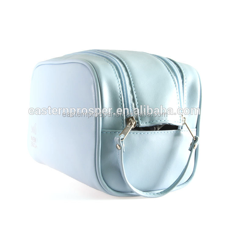Soft Pu Leather Printing Makeup Bag Cosmetic Sling Zip Pouch Beauty Bag