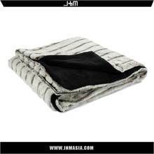 Wholesale alibaba customized summer queen size faux fur mink blanket