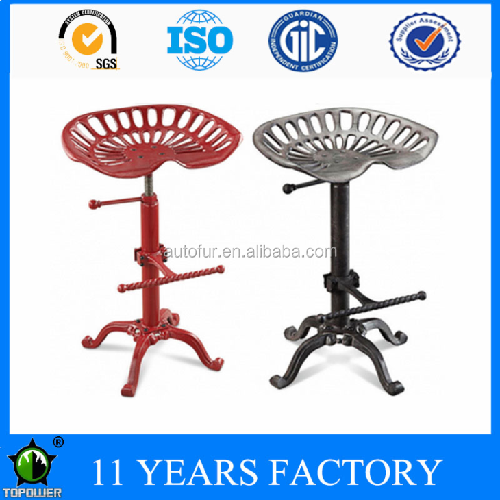 Rustic Style farm house Tractor seat Cast Iron Bar Stool