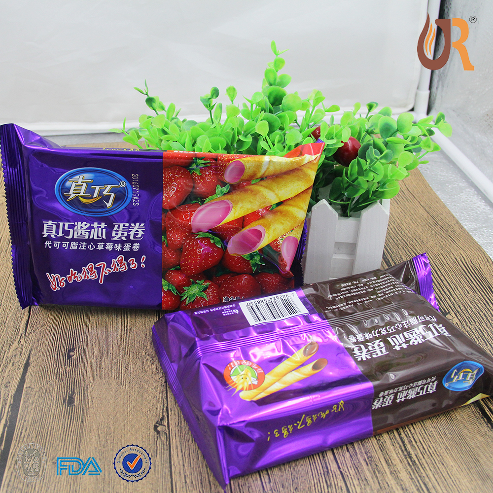 3 sides sealing Easy Tearing Plastic Snacks packaging Bag ,custom printed laminated packaging bag