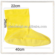 WJ123 natural latex boots with bits of wood boot cover factory sale directly