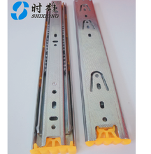 furniture hardware iron material 3 folding hettich type telescopic channel cabinet drawer slides