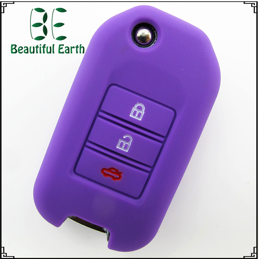 Creative design protective silicone key organizers for honda car remote key cover car key