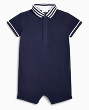 China Supplier Baby Toddler Clothing Cotton Piece Polo Rompers