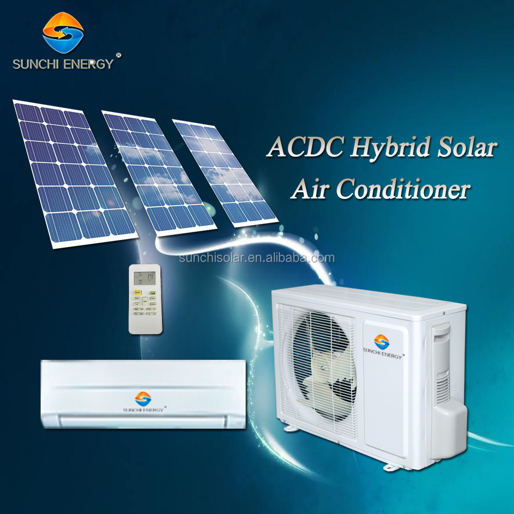 9000btu 12000btu ACDC type hybrid room use best split general air conditioner in solar panel companies