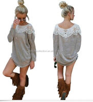Ladies causal lace shirt women loose apparel blouse tops summer dress for women clothing cheap online shop