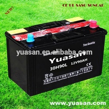 12V90AH Yuasan Super Starting Auto Battery N90 Lead Acid Dry Charged Car Battery --30H90L