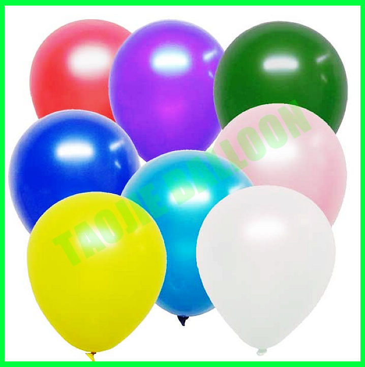 12 inches metallic latex balloons 24 colors