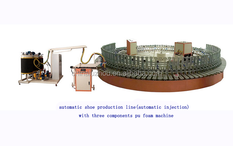 Desma type pu outsoles safety boots labor shoes leather shoes lady and men footwear foaming making machine