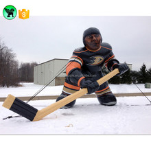 Giant Ice Hockey Sports Inflatable Man With Hockey Stick For Sports Meet A682