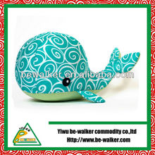 Lovely Plush Blue Dolphin Pillow For Promotion