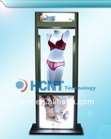 New Invention ! magnetic levitation led display rack for underwear, clear bra cups