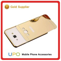 [UPO] Aluminum Metal Bumper Mirror phone Case back Cover for samsung galaxy A8