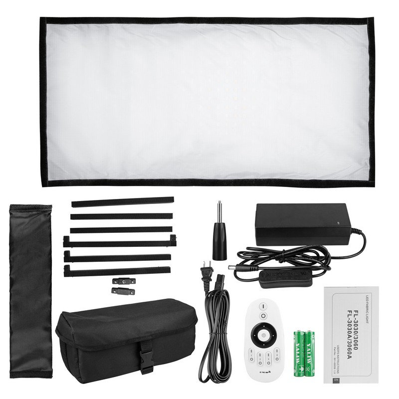 5700K flexible moldable waterproof fabric mat slim photography video LED panel light