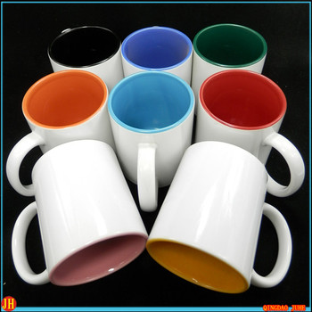 A grade Blank sublimation Personal customized inner color mug