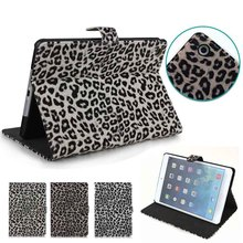 for tablet ipad mini 1 2 3 case, Leopard design Leather tablet case for iPad mini 1 2 3