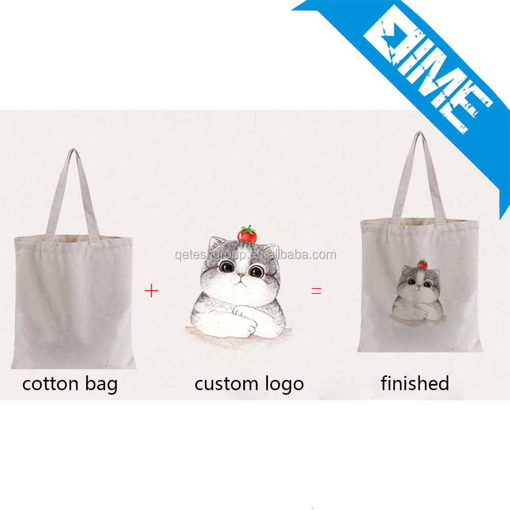 Best Quality Custom Print Strong Handle Shopping Students Tote Cotton Bag
