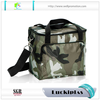 Camouflage Polyester can cooler lunch bag insulated aluminium foil cooler bag