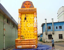 commercial giant inflatable rock climbing wall , inflatable floating climbing for kids and adults
