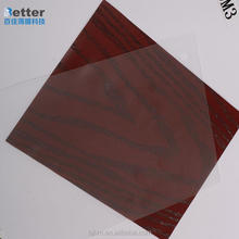 Hard printed pvc film for decoration