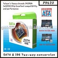 SATA & IDE TWO-WAY CONVERSION PD620 cable adapter (sata to ide/sata to ide converter/sata to ide adapter) (GF-PD620)