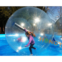 Factory custom bubble ball walk water human ball durable inflatable transparent water rolling ball
