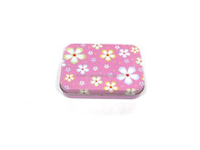 Lovey small puzzle playing card metal tin box