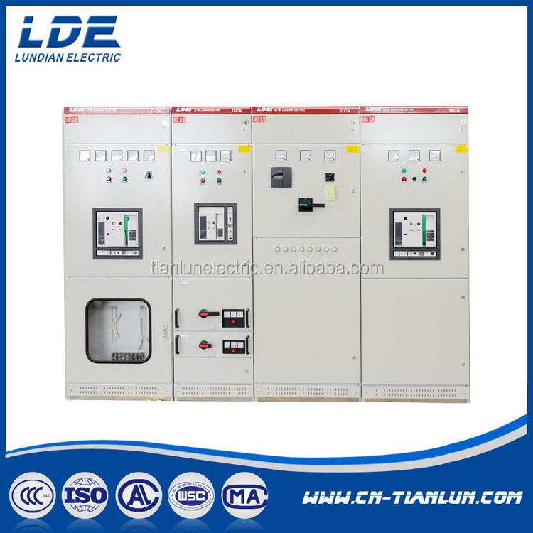 GCK type AC 380v low voltage distribution cabinet switchgear /power cabinet